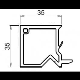 tap e d 39 isolation pour fen tre chene dore 35mm. Black Bedroom Furniture Sets. Home Design Ideas
