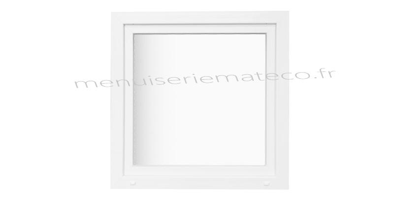 Fen tre pvc 1 vantail hauteur 1180 mm x largeur 460 mm for Fenetre 60x40