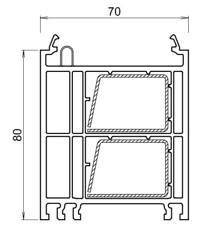 Rehausse elargisseur kommerling de 80 mm blanc 0301 for Porte fenetre kommerling