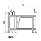 Rehausse / elargisseur kommerling de 50 mm BLANC