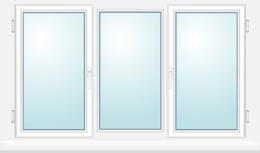Fen tres standards vente de fenetre pvc de taille for Fenetre 3 vantaux alu