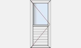 Portes de service semi vitré