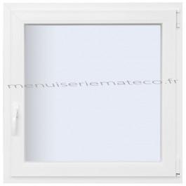 Fenêtre PVC 1 Vantail Hauteur 1280 mm x Largeur 560 mm stock limité