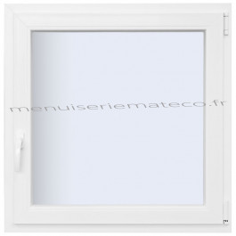 Fenêtre PVC 1 Vantail Hauteur 1380 mm x Largeur 660 mm stock limité