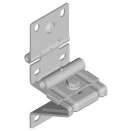 Porte-roulette résidentiel pour axe 10 mm galvanisé