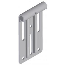 Porte-roulette supérieur pour axe 10 mm EasyClick 200 galvanisé