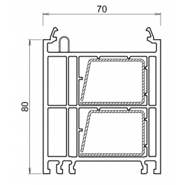 Rehausse / elargisseur kommerling de 80 mm BLANC
