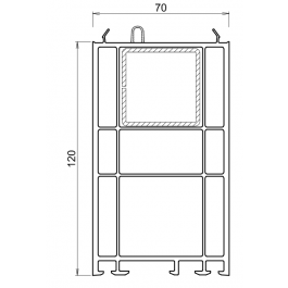 Rehausse / elargisseur kommerling de 120 mm BLANC