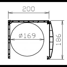 Coffre de volet roulant pvc Kommerling 186 mm Chêne doré
