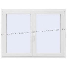 Fenêtre PVC 2 Vantaux Hauteur 880 mm x Largeur 1360 mm