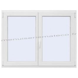 Fenêtre PVC 2 Vantaux Hauteur 580 mm x Largeur 1260 mm stock limité