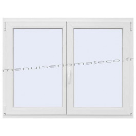 Fenêtre PVC 2 Vantaux Hauteur 480 mm x Largeur 1260 mm stock limité