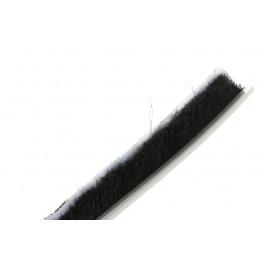 Joint brosse 7 mm Noir avec barrière plastique