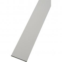 Plat PVC blanc 80mmx2.5mm longueur de 6 mètres