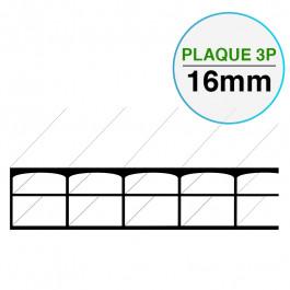 Plaque Polycarbonate 3 Parois Larg. 1050 mm EP 16 mm