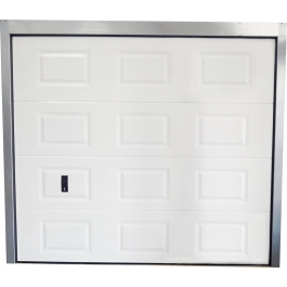 Porte de garage sectionnelle blanche co 240x212 - Porte de garage sectionnelle manuelle ...