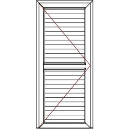 Porte de service Pleine Larg. 860 mm X Haut. 2180 mm Poignée a droite Stock limité