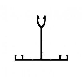 T ALU pour plaque de 32 mm profils toiture véranda (T32.1)