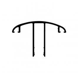 Clips ALU pour remplissage toiture de véranda (CL32)