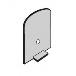 Profil d'arret 3 mm pour verre profilt toiture véranda (S38.3)