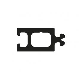 Rupture thermique ABS noir pour joint C11CX avec gouttière G (Y16P)