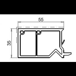 Tapée d'isolation pour fenetre blanche +55mm