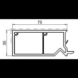 Tapée d'isolation pour fenetre blanche +75mm