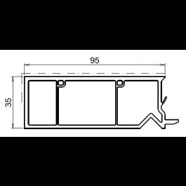 Tapée d'isolation pour fenetre blanche +95mm
