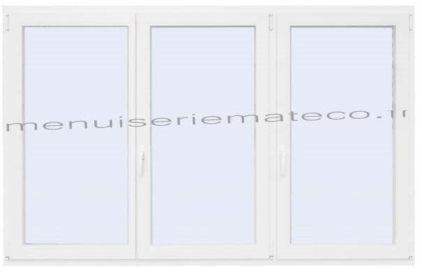 Fenêtre Pvc 3 Vantaux Hauteur 1180 Mm X Largeur 1960 Mm Stock Limité