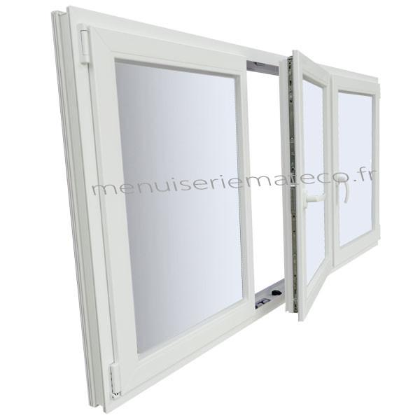 Fenêtre Pvc 3 Vantaux Hauteur 1150 Mm X Largeur 2000 Mm Stock Limité