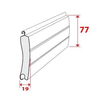 lame aluminium pour volet roulant non ajour e avec mousse. Black Bedroom Furniture Sets. Home Design Ideas