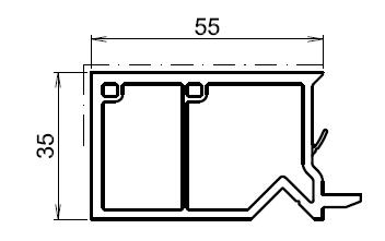 Tapée Disolation Pour Fenetre Blanche 55mm