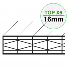 Plaque Polycarbonate Structure X Larg. 1200 mm TOP X6 EP 16 mm