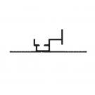 Profil inférieur pour raccord vitrage (GVB)