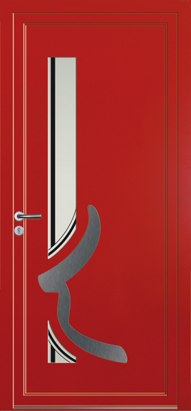 porte d'entrée sur mesure alu pvc verre