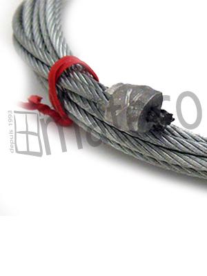 Câbles assemblés galvanisés 6 x 19 + âme pp d = 3 mm L = 2555 mm