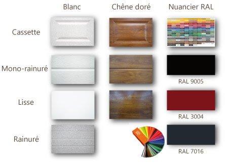 porte sectionnelle en couleur