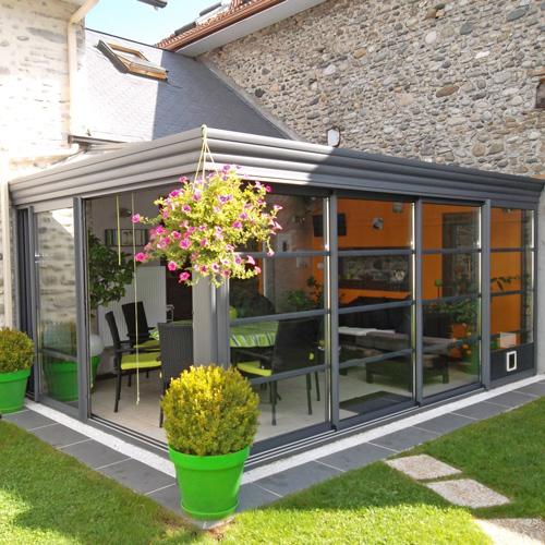 verandas toiture plate